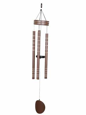 AshmanOnline 40 inch Brown Wind Chimes - Tone Sympathy Wind Chimes with 5 Brown Copper Vein Tubes