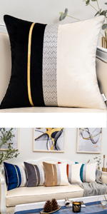 black and white throw pillow cover