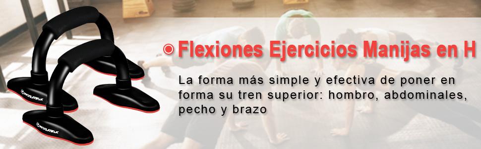 Push up Bars, Flexiones Ejercicios Manijas, Soporte para Flexiones, Mango de espu Steel Bar, incline-press, skid-resistant, Gimnasio en casa Ejercicio ...