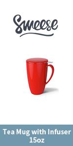 Tea Mug with Infuser - 15oz - Red
