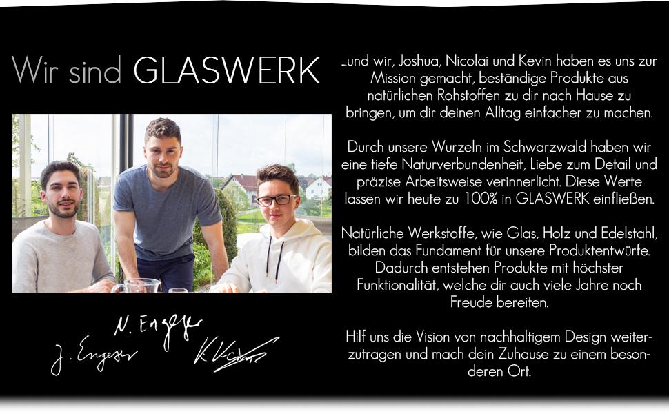 GLASWERK Team design Produkte