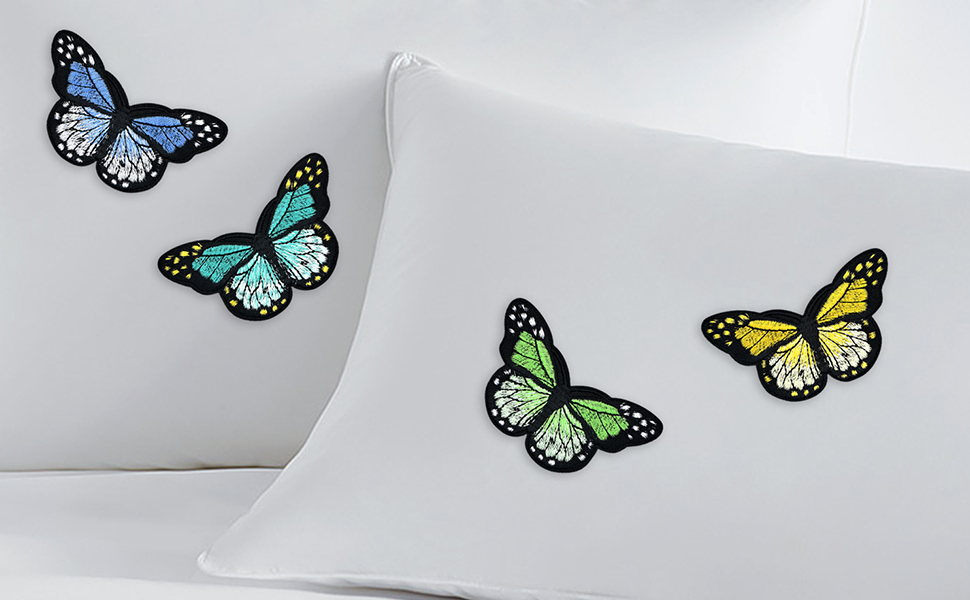 Bag,Caps,Arts Craft Sew Making Jackets Kids Clothing Jeans 20 Pieces Butterfly Iron on Patches Embroidery Applique Patches for Arts Crafts DIY Decor