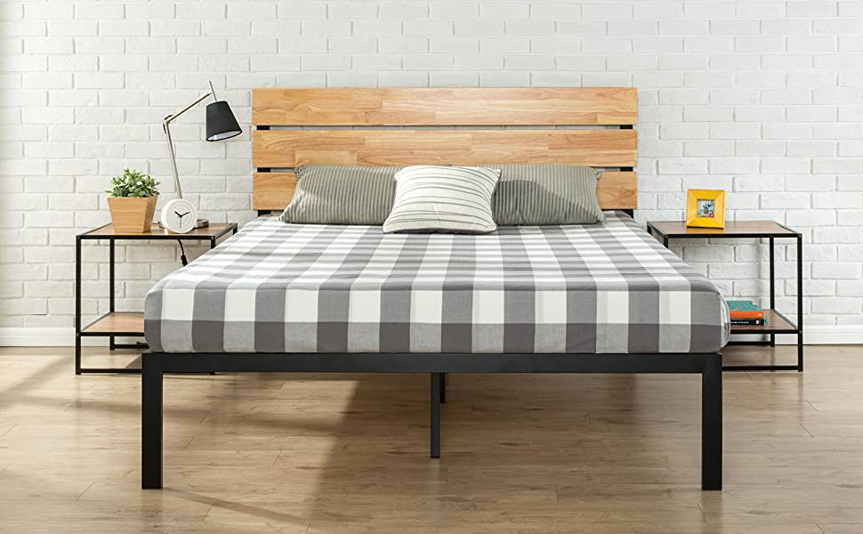 HBPBA Aimee Bed product dimension Zinus Bed frame