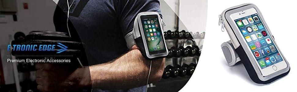 /étui de Support de t/él/éphone Portable avec Sangle de Brassard pour Apple iPhone 6 6S 7 8 X Plus Touch Android Samsung Galaxy S5 S6 S7 S8 S9 Note 8 5 Edge Pixel Brassard de Sport Rotatif