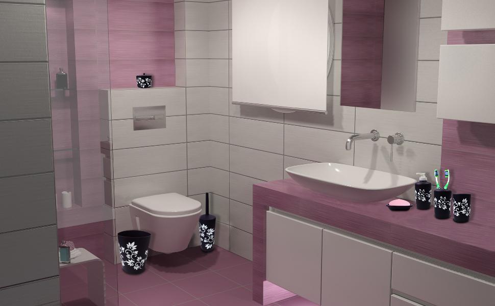 Prime Blue Donuts Durable 7 Piece Printed Bathroom Set In Purple Download Free Architecture Designs Scobabritishbridgeorg