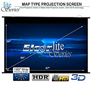 Map type Projector Screen 84 Inch Diagonal