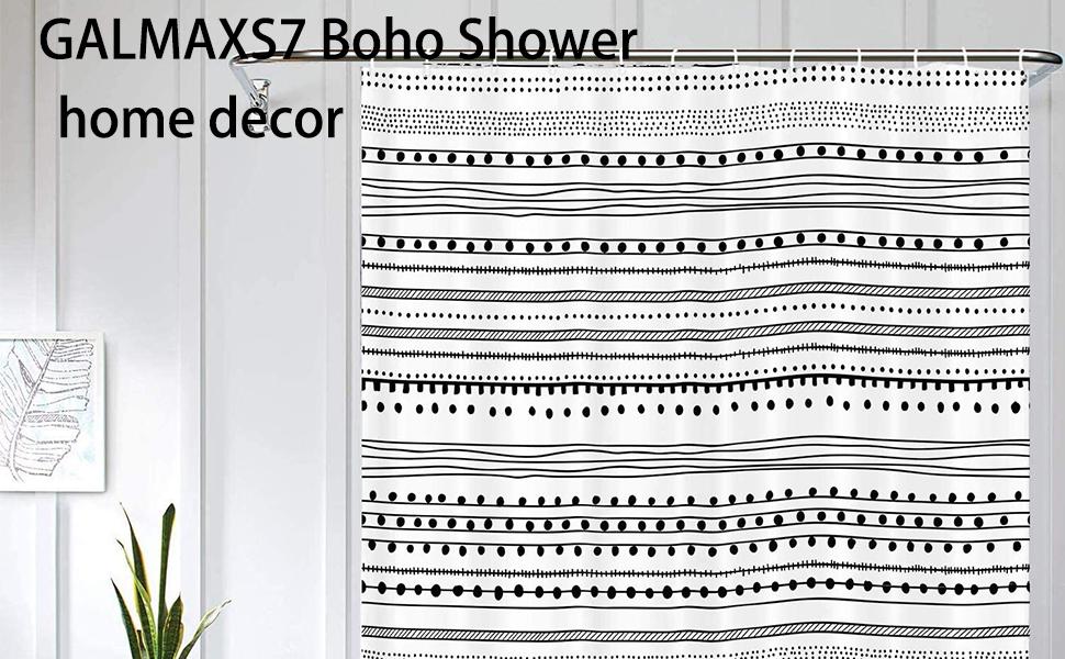 fabric shower curtain farmhouse shower curtain shower curtain long shower curtain black shower
