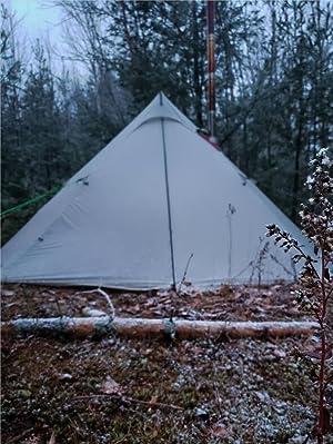OneTigris Smokey HUT Ultralight Hot Tent Weighs 2.6Ib Black Orca Series