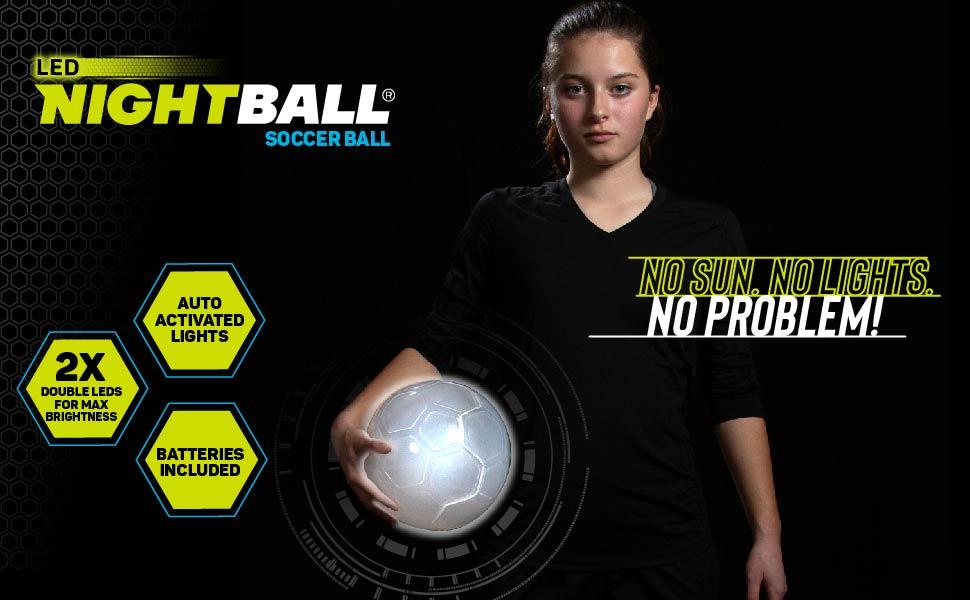 nightball basketball lightup glow sports soccer ball LED technology