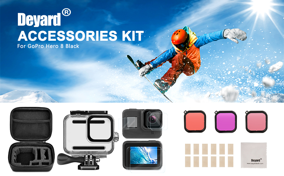 GoPro Hero 8 Black Accessories Kit