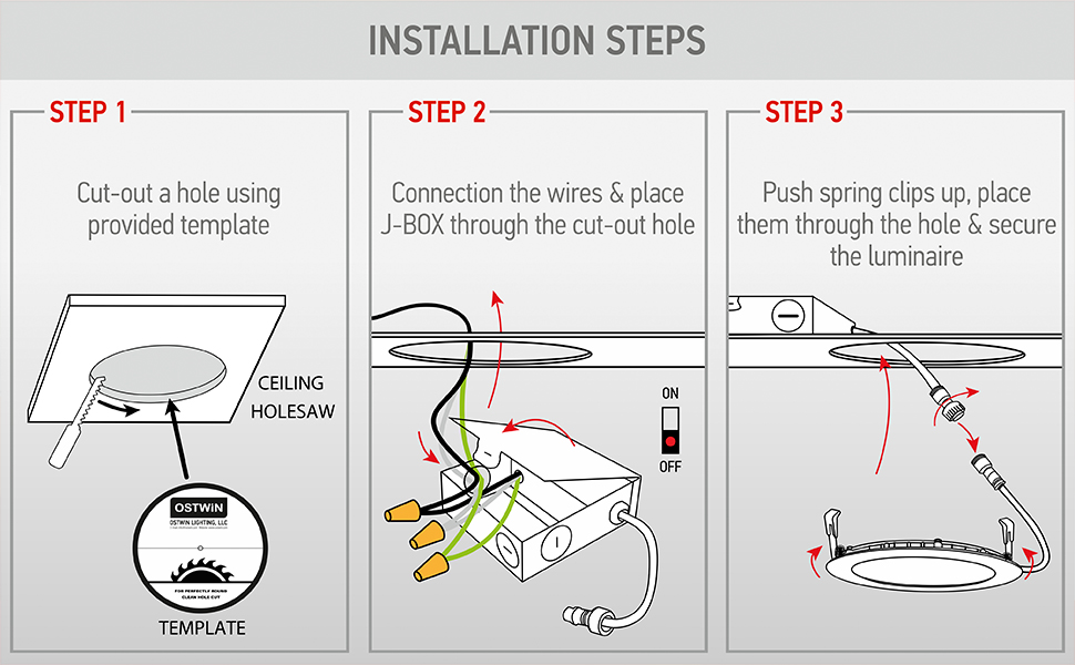 three instalation steps