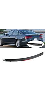 Fit For AUDI A4 2017-2019 Sedan Rear Trunk Lip Spoiler Wing Painted Black