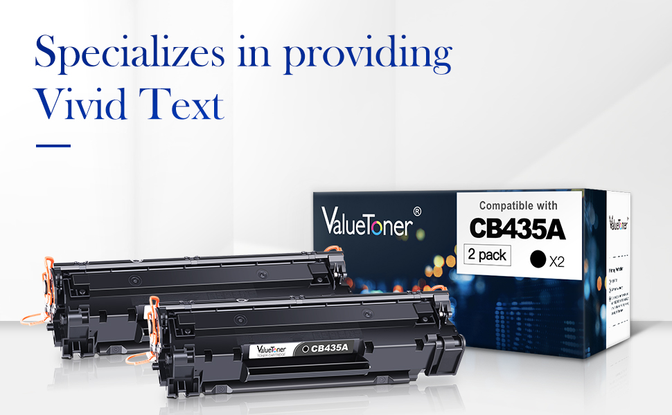 Jumbo Toner P1005 Works with: Laserjet P1002 100/% More Yield! P1004 Black P1003 P1006,/P1009 Print.After.Print Compatible Toner Replacement for HP CB435A