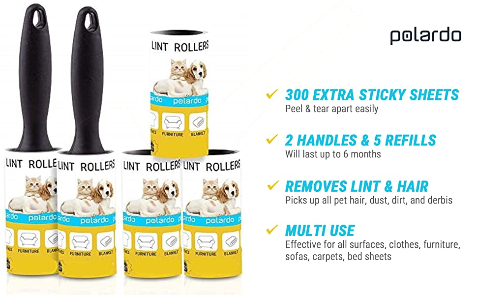 lint rollers for clothes pet hair sticky