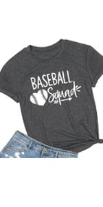 Women Baseball Squad Letter Print Shirt