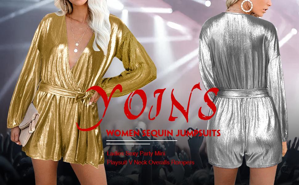 Coolred-Women Regular Fit Deep V Neck Floral Spring Long-Sleeve Party Jumpsuit