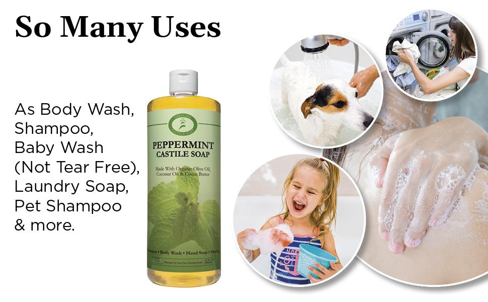 Castile Soap, Peppermint soap, soap, Castile Peppermint Soap