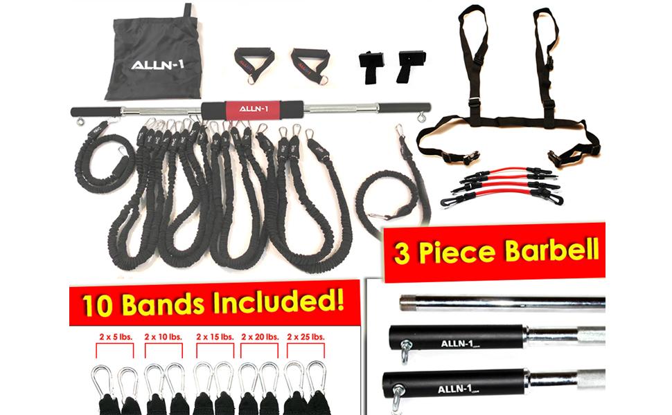 ALLN-1 Resistance Bands Barbells Door Anchors Mini Resistance Bands