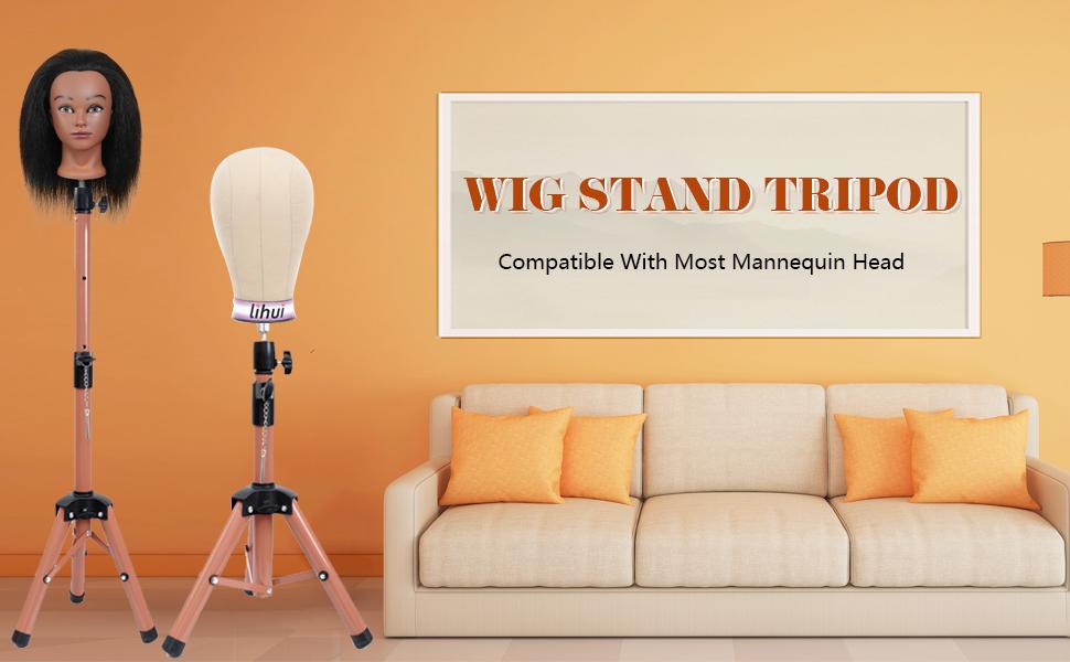 wig stand tripod
