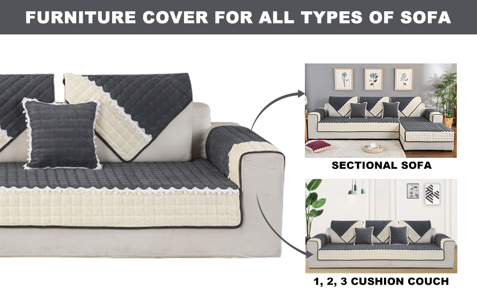 Cover bedspread sofa cover couch cover one side lama trébuchet