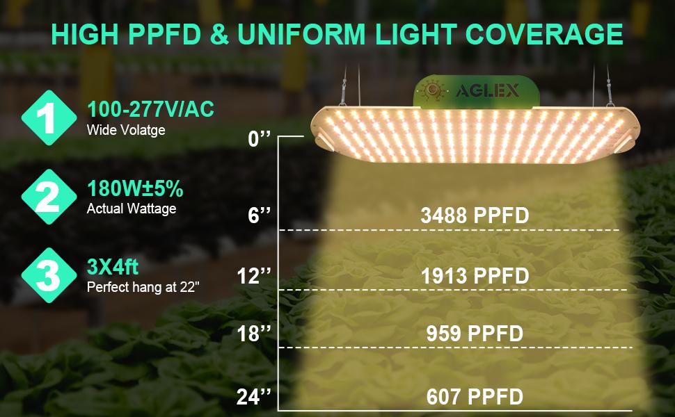 HIGH PPFD LED GROW LIGHT
