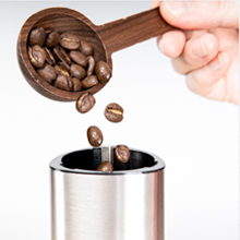 pull the coffee bean