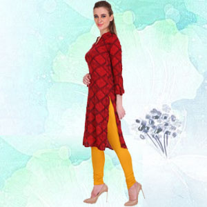 saundarya, cotton churidar leggings
