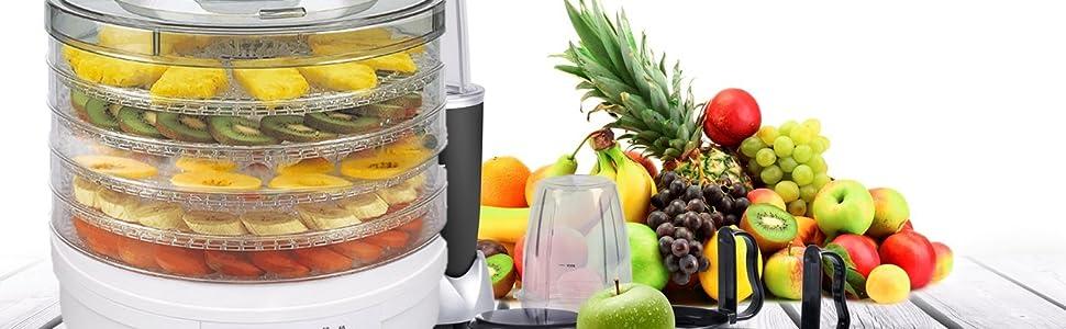 Deshidratador De Setas, Verduras Y Frutas SG200N Crusty ELDOM, 5 ...