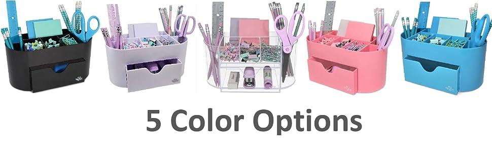 Organizador de escritorio 5 opciones de color