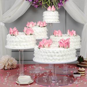 5 tiers stand set for cakes, cupcakes, and more