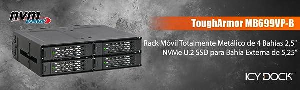 Icy Dock ToughArmor MB699VP-B Rack metálico Robusto extraíble para ...