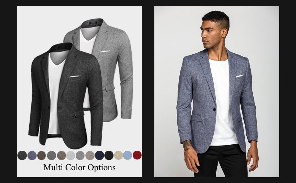 COOFANDY Men's Casual Sport Coat Lightweight Suit Blazer Jackets One Button