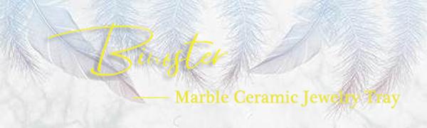 Binoster Marble Ceramic Jewelry Tray