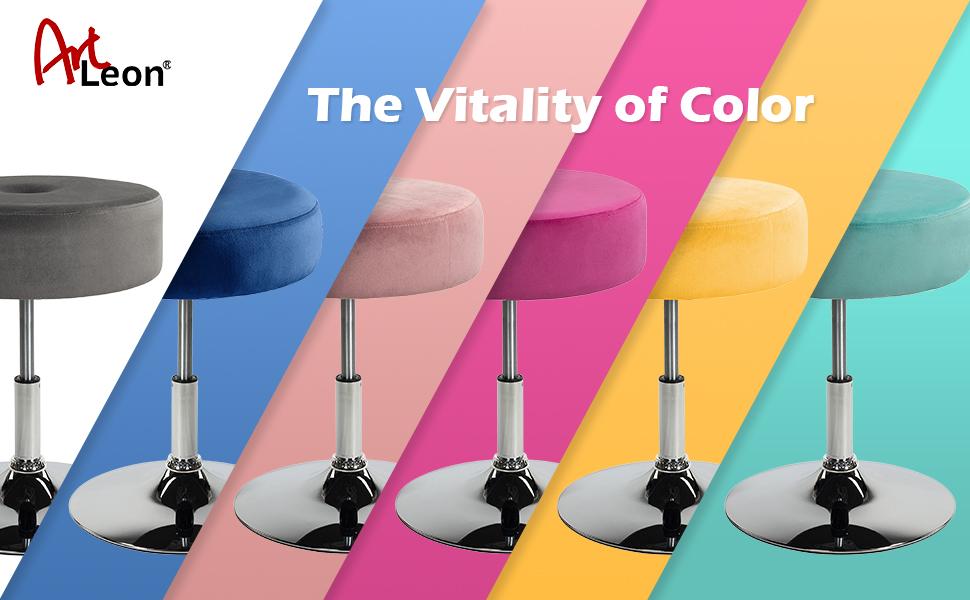 wide vanity stool