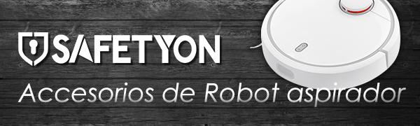 SAFETYON Accesorios Robot Aspirador Xiaomi (17 Piezas), Recambios Roborock s50/s51, Xiaomi Vacuum 1/2-1*Cepillo Principal 3*Cepillo Lateral 13*Filtros HEPA: Amazon.es: Hogar