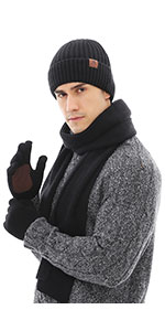mens hat and glove set