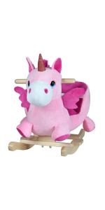 balancín mecedora niños bebes juego juguete regalo animales peluche cinturón unicornio sonido