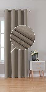 Blackout Linen Look Curtains