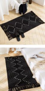 area rugs boho accent rug 2x3 bathroom rug door mat woven kitchen rug cotton washable cotton rug