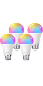 color changing light bulbs e26 a19 4 pack