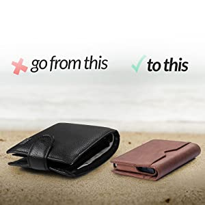 slim wallet front pocket wallet easy to use practical and stylish