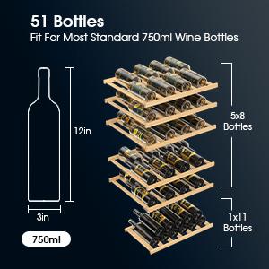 51 Bottles Capacity