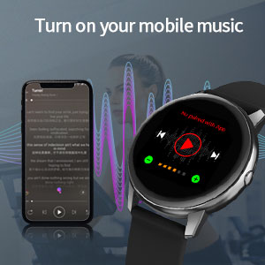 digital watch supporting mobile phone music control