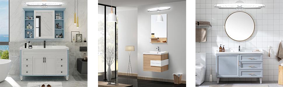 Combuh Led Bathroom Vanity Light Crystal Wall Light 20 Inch 15w Mirror Lighting Fixture Indoor Wall Lamp Modern Cool White 6000k Amazon Ca Tools Home Improvement