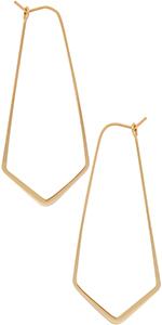 Threader Hoop Earrings for Women - Hypoallergenic Lightweight Thin Wire Dainty Drop Dangles