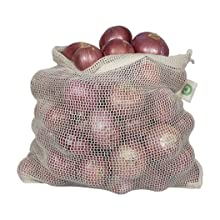 Durable Reusable Kitchen Onion Potato Mesh Storage Hanging Bag with Drawstring