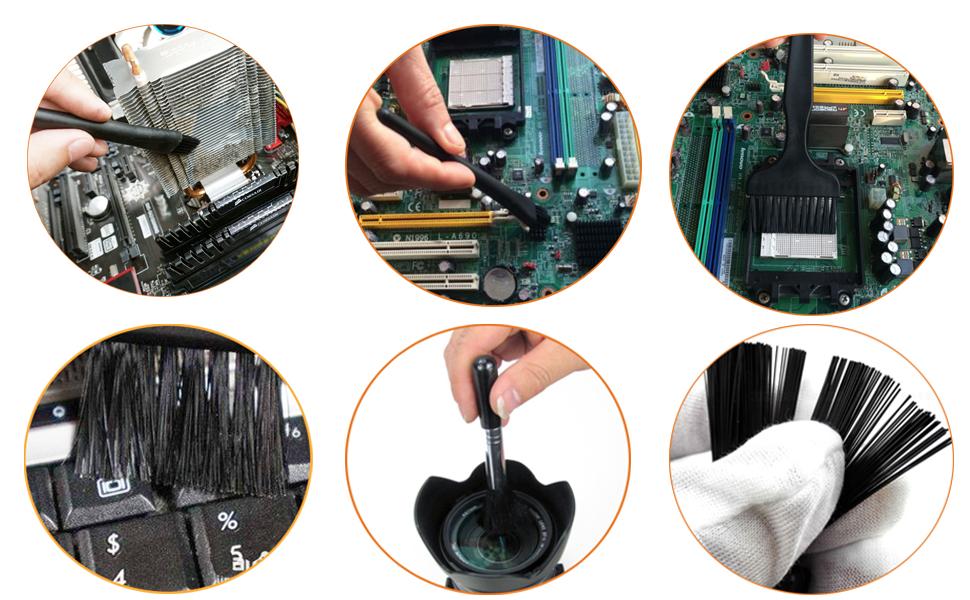 ShipeeKin 4 en 1 Kit de cepillo de limpieza de polvo eléctrico/3 tamaños de cepillos ESD antiestáticos + 1 cepillo ...
