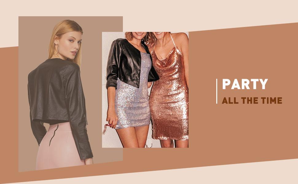 Women Leather Crop Jacket