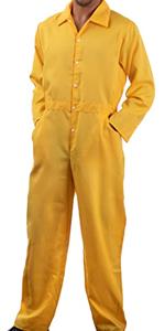 yellow unisex jumpsuit jump suit men women flightsuit