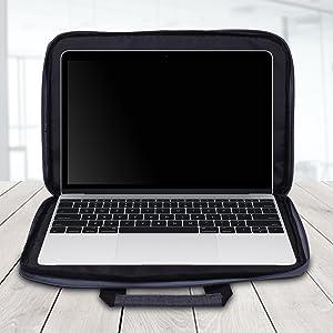 180 opening laptop sleeve 15 inch bag